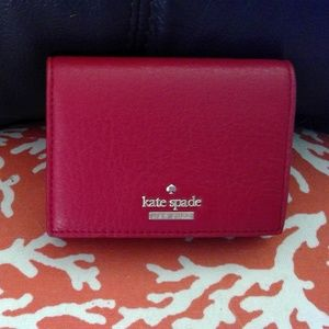 Kate Spade red leather credit card holder *NWT*